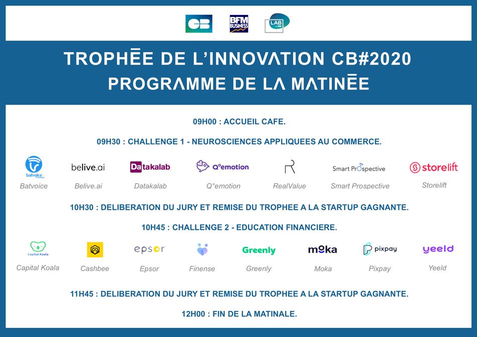 Programme - Trophée de l'innovation CB #2020