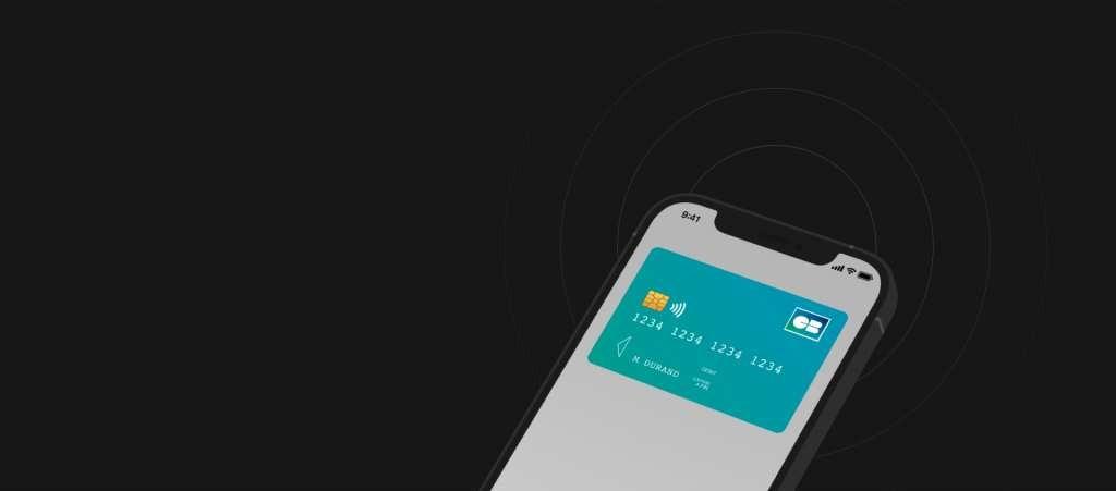 Mobile avec carte bancaire