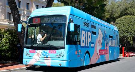 Bus habillé open payment Monaco